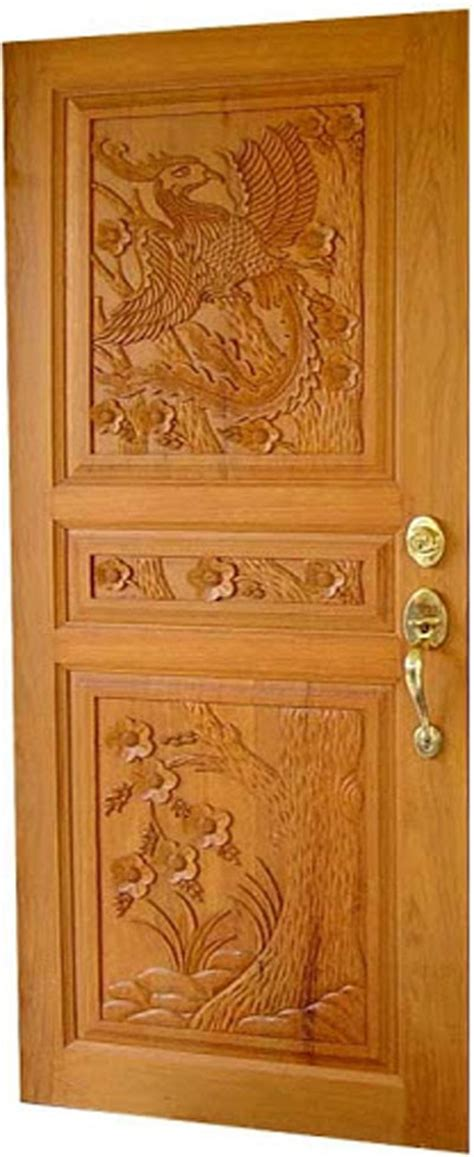 kerala model wood single doors designs gallery i