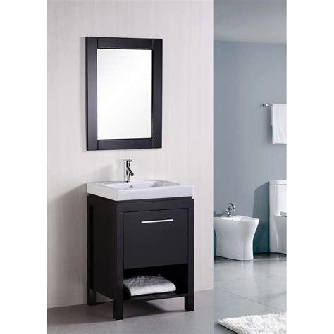 Modern Single Bathroom Vanities by Design Element New York 24 Quot Contemporary Bathroom Vanity