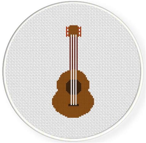 guitar pattern library download instant download stitch acoustic guitar pdf cross stitch