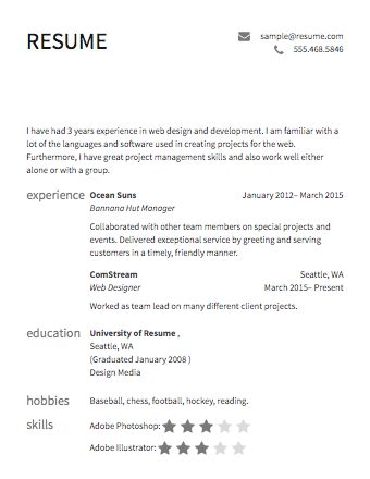 Images Of Resume Templates by Sle Resume 183 Resume