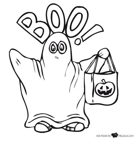 imagenes de halloween tiernas para colorear boo fantasma dibujalia dibujos para colorear eventos