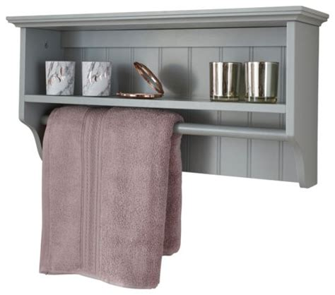 Colonial Bathroom Furniture Grey Towel Rail Shelf One Stop Furniture Shop