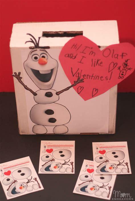 diy valentines box disney s frozen olaf valentines mailbox