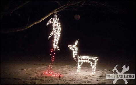 fresno and reindeer and christmas lights and hunter dead deer whitetrashrepairs