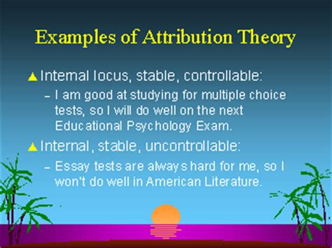 exle of theory exles of attribution theory