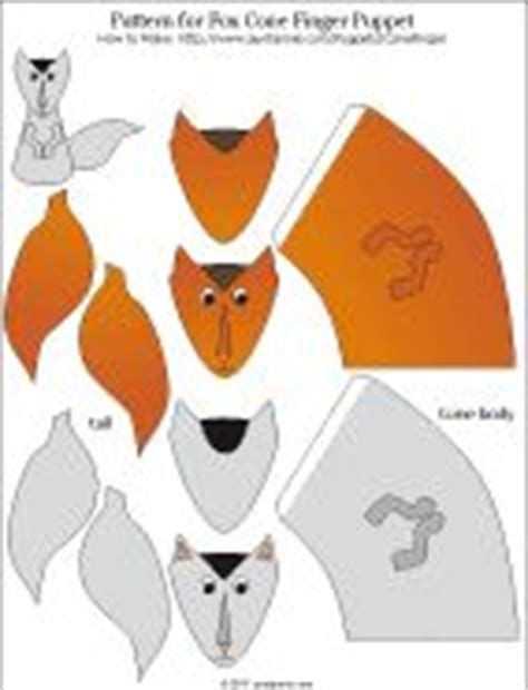 How To Make A Paper Fox Puppet - paper cone finger puppets paper cones finger puppets