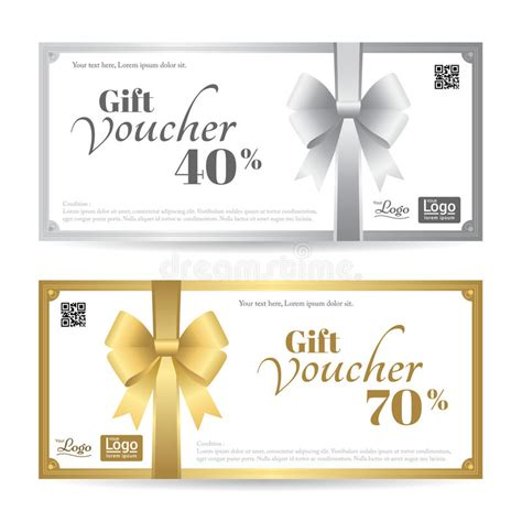 shiny card template gift card or gift voucher template with shiny gold