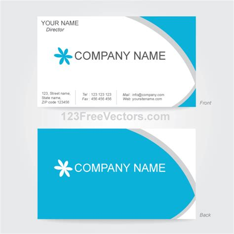 Finance Business Card Template by Vector Business Card Design Template 123freevectors