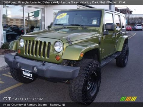 jeep wrangler rescue rescue green metallic 2007 jeep wrangler unlimited