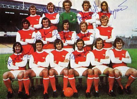 Arsenal Signature 6 1973 arsenal fc memorabilia signed team photo gunners fa
