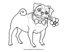 pig the pug colouring pages printable pug coloring page by the inky octopus