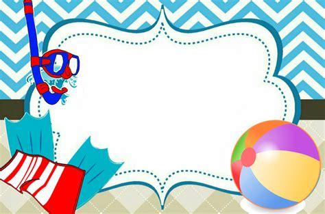 blank beach party invitation template luxurious srilaktv com