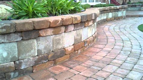 Brick Paver Wall Brick Paver Sidewalk Seating Wall Patio