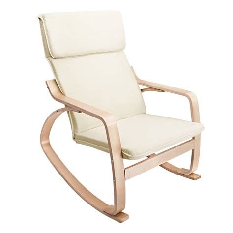Fabric Rocking Chair by Ergonomic Bentwood Fabric Rocking Chair In Beige Buy