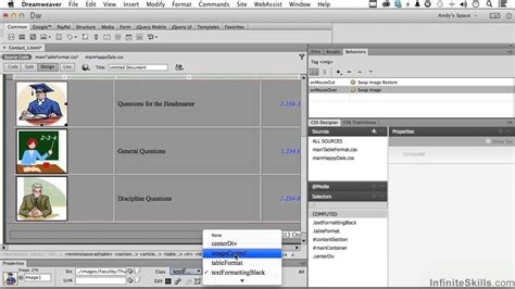 tutorial dreamweaver cc adobe dreamweaver cc tutorial adding images to table