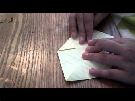 Lined Paper Origami - how to make an origami lotus flower with plain lined paper