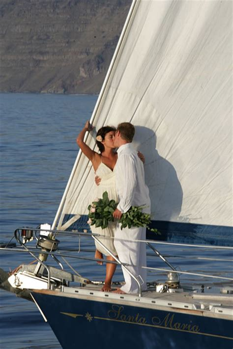 wedding reception locations with yacht view boat sailing ship yacht weddings santorini gallery divine