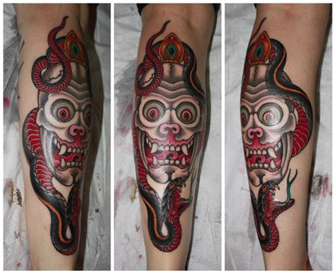 tibetan skull with snake for genna chris o donnell tattoo