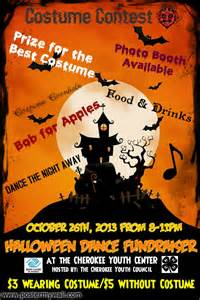 cherokee youth council halloween dance fundraiser flyer