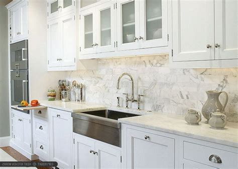 white kitchen mosaic backsplash square shape silver