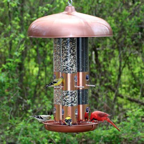 perky pet copper triple tube bird feeder