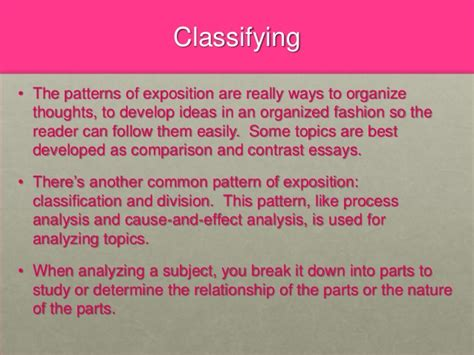 classification pattern paragraph classification essay