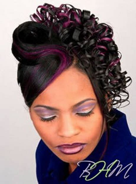 types of updo hairstyles with bangs african amer black updos hairstyles