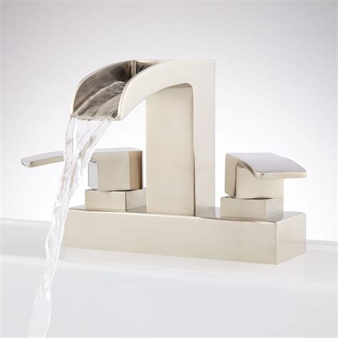 centerset waterfall faucet bathroom