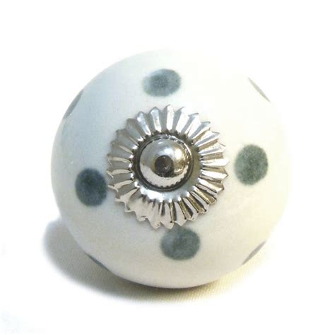 Pushka Door Knobs by Grey White Ceramic Cupboard Drawer Door Knobs By Pushka
