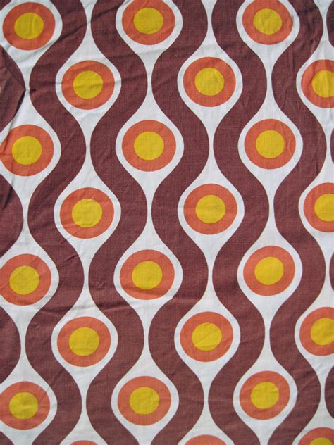 70s upholstery fabric vintage 1960s 70s fabric retro geometric pattern from germany