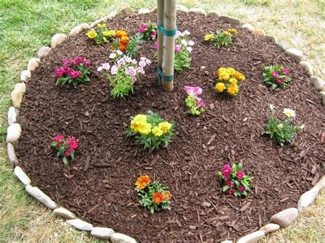 diy flower bed easy diy stones for flower beds