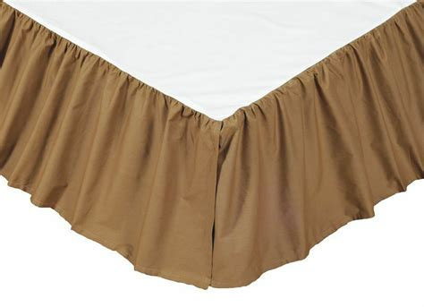 solid brown bedskirt or king 100 cotton khaki dust ruffle bed skirt ebay