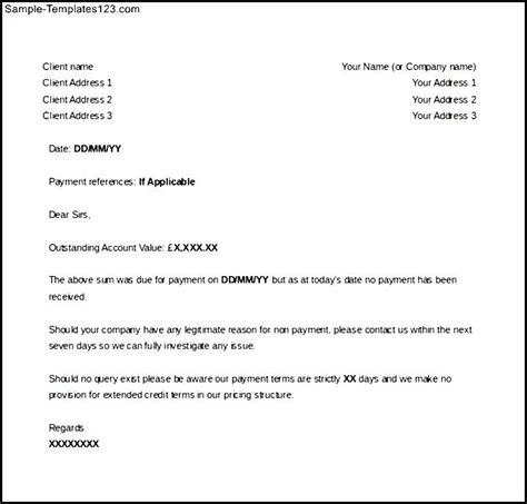 sle unpaid invoice legal action letter template