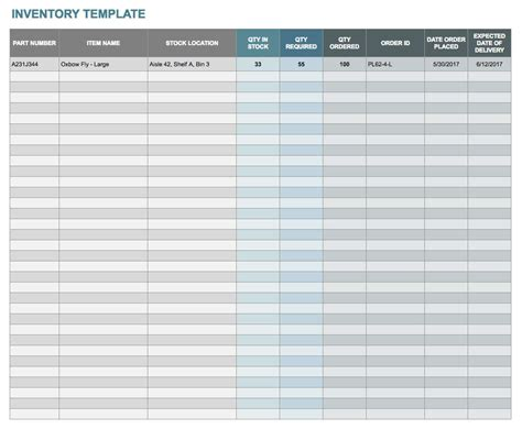 tracker template excel for stock simple inventory