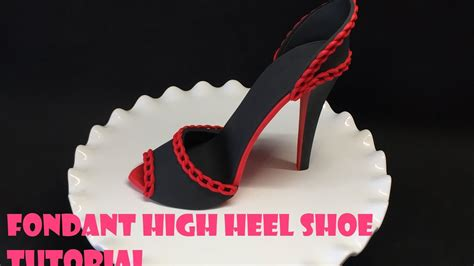 How To Make A High Heel Shoe Out Of Paper - fondant high heel shoe tutorial
