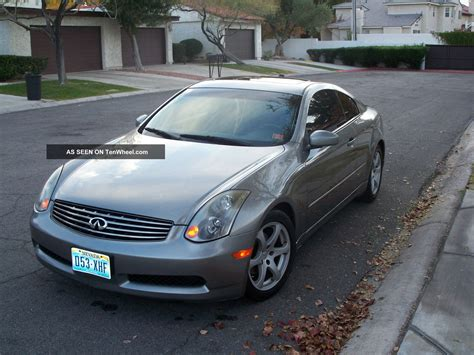 infiniti g35 coupe silver 2004 infiniti g35 silver and black coupe 2 door 3 5l