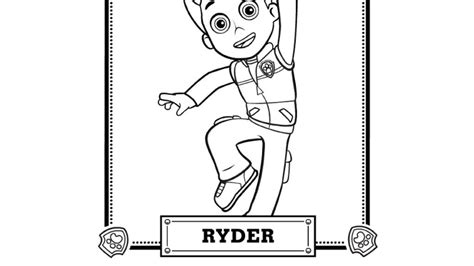 paw patrol paw patrol meet ryder colouring pages for