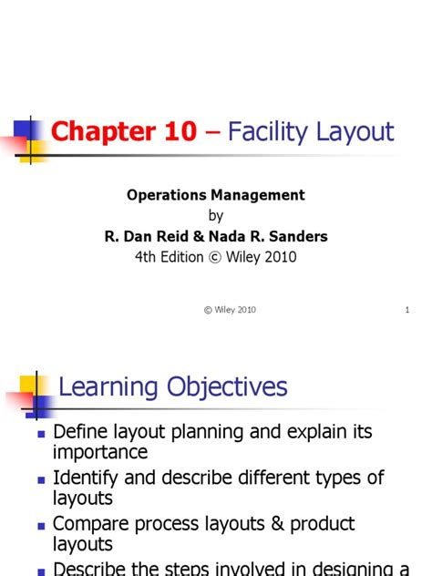 facility layout presentation 3 plant layout ppt john wiley sons efficiency