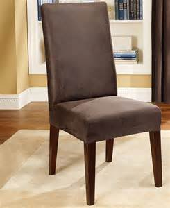 Leather Dining Chair Covers Sure Fit Stretch Faux Leather Dining Room Chair Cover Slipcovers For The Home Macy S