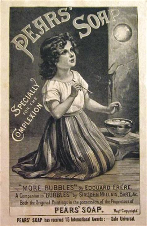 Powder Room Signs - 1888 pears soap ad edouard frere with bubbles vintage health amp beauty ads