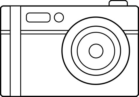 colorable digital camera design free clip art