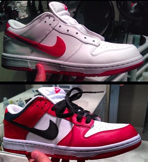 angelus paint air 1 air 1 inspired nike dunks customized with angelus paint