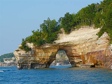 boat tours for pictured rocks arch tour boat pictured rocks munising flickr