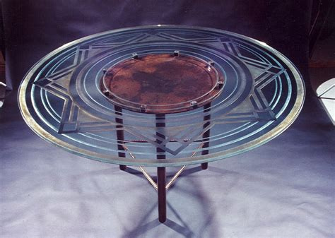 etched glass dining table stargazer glass dining tables sans soucie