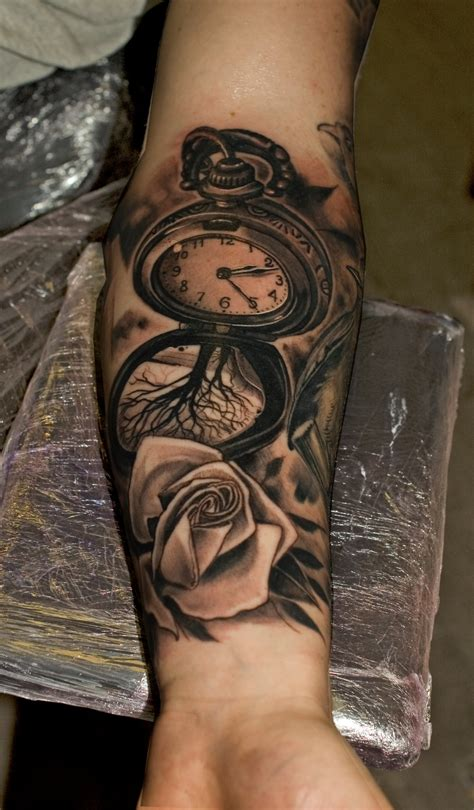 pocket watch tattoos for men pocket search inspiration