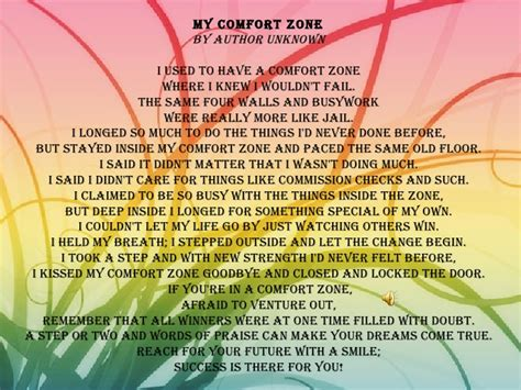 my comfort zone poem priceless gems of wisdom