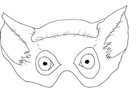 monkey mask coloring page free coloring pages of monkey mask for