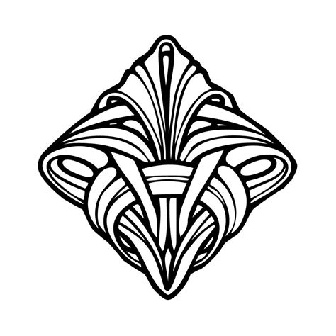 Coloring Pages Art Deco | 5 best images of art deco coloring pages printable deco