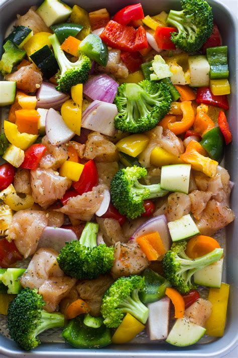 vegetables dinner 15 minute healthy roasted chicken and veggies