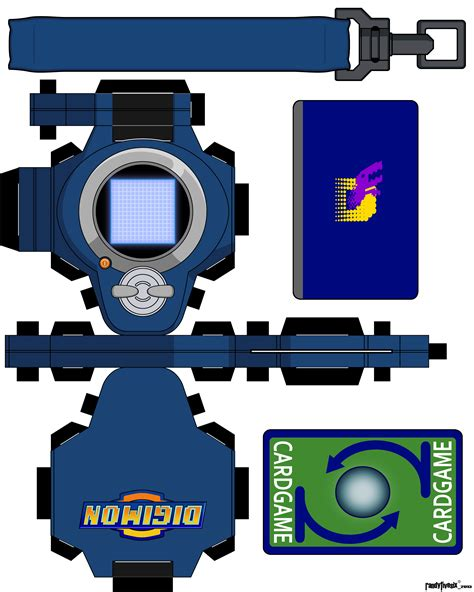 Digimon Digivice Papercraft - ryo tamers rf6 by randyfivesix on deviantart